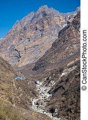 beautiful way for trekking to Annapurna sanctury , Nepal