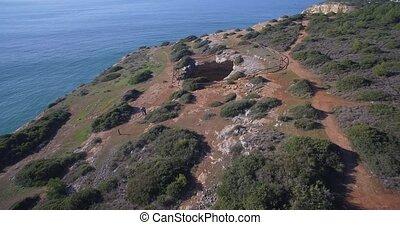 Aerial, Praia Da Corredoura, Grottas, Praia Da Benagil,...