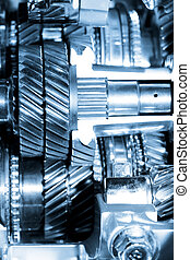 Transmission - Close up shot of automotive engine components