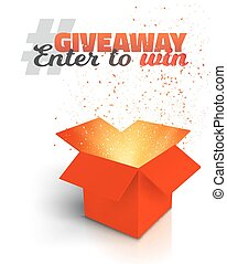 Giveaway Competition Enter to Win Prize Concept -...