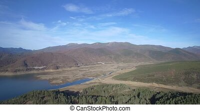 Aerial, Beautiful View On Embalse De Riano, Spain - Native...