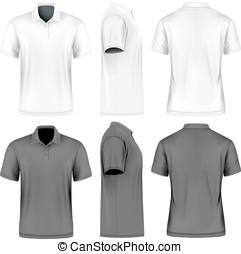 Mens short sleeve vector illustration - Mens short sleeve...