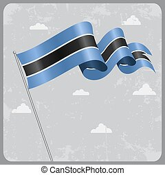 Botswana wavy flag. Vector illustration. - Botswana flag...