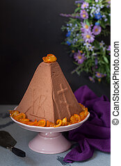 Easter Chocolate Quark Dessert, Paskha - Easter Chocolate...