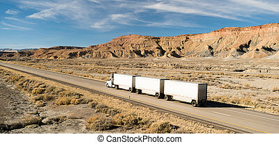Over The Road Long Haul 18 Wheeler Big Rig Tandem Truck - A...