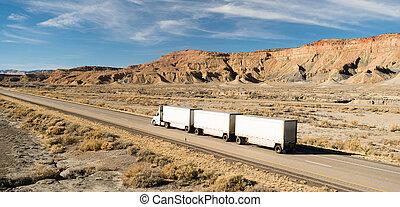 Over The Road Long Haul 18 Wheeler Big Rig Tandem Truck - A...