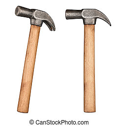 Old rustic claw hammer