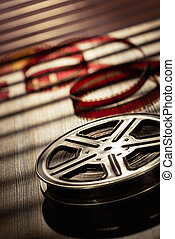 Film reel - Motion picture film reel on the table