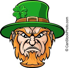 Tough Leprechaun Macot - Tough cartoon Leprechaun St...