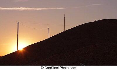 Sunset. - Beautiful sunset over mountain.