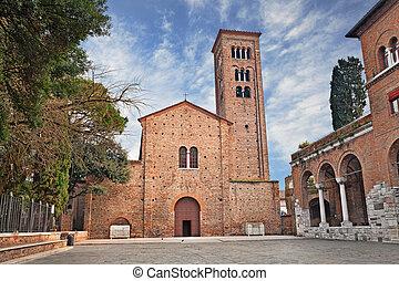 Ravenna, Italy: the medieval St. Francis basilica - Ravenna,...