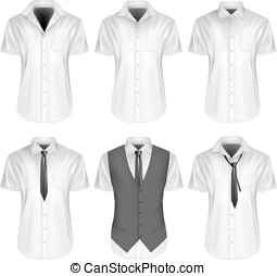 Mens short sleeve formal button down shirts