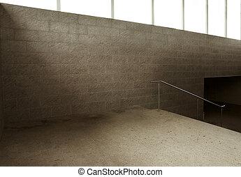 underground passage - Empty underground passage stairway