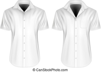 Mens short sleeved shirts with open collars - Mens short...