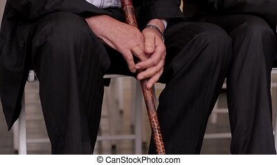 Old oligarch. - Old oligarch with a stick sitting on a...