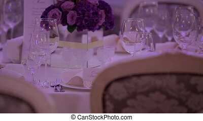 Wedding table setting.