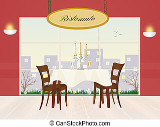 illustration of restaurant