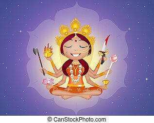 Goddess Kali - illustration of Goddess Kali