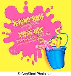 Holi promotional background