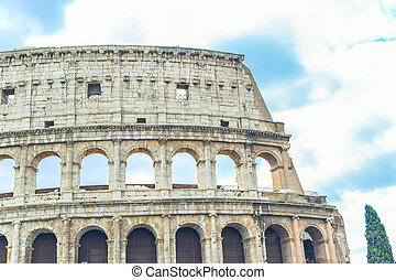 Stock Photo Coliseum made outside with clouds in the...