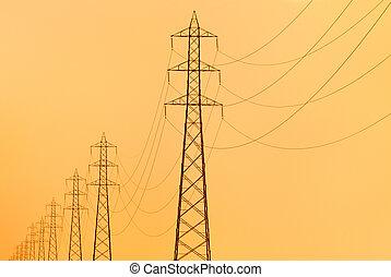 electricidad, pilones