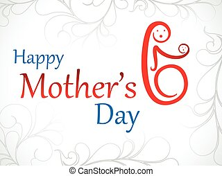 abstract artistic mother day background vector illustration