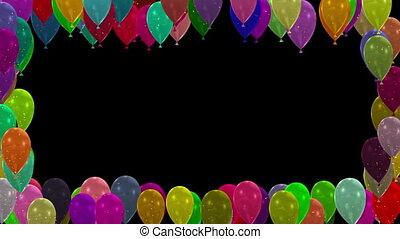 Balloons Frame 3d render stock