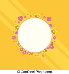 Spring theme frame with flower