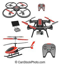 Helicopter and quadrocopter, quadcopter with camera, remote...