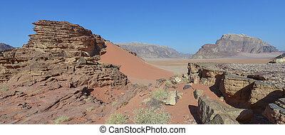 Wadi Rum, Jordan - Wadi Rum desert in Jordan