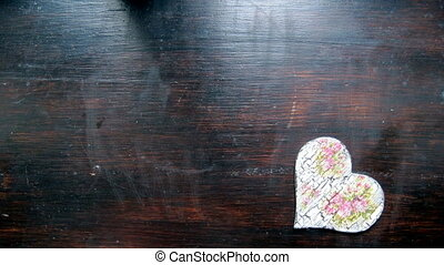 Hand made hearts notebook box with dried petals - Hand made...