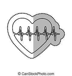 heartbeat inside heart icon