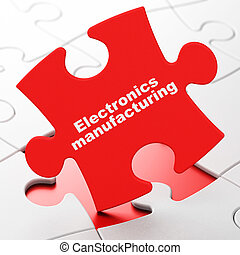 Industry concept: Electronics Manufacturing on puzzle...