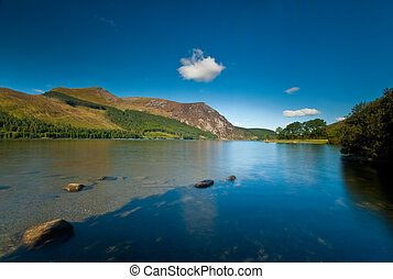 Llyn Cwellyn in the Snowdonia National Park, Wales, UK
