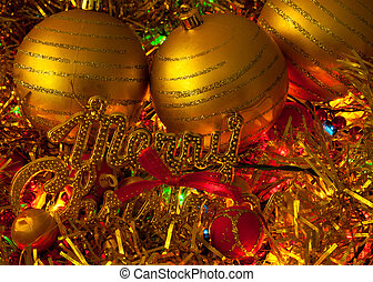 Christmas decorations with globes