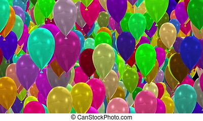 Balloons Transition Full HD 3d render stock