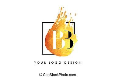 BB Letter Logo Circular Purple Splash Brush Concept. - BB...