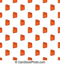 Bisiness plan folder pattern, cartoon style - Bisiness plan...