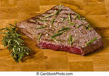 cooked rump steak
