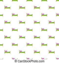 Children bed pattern, cartoon style