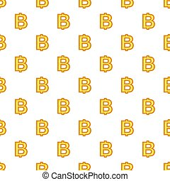 Baht currency symbol pattern, cartoon style - Baht currency...