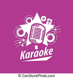 vector logo karaoke - logo design template for karaoke....