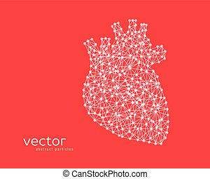 Abstract vector illustration of human heart. - Abstract...
