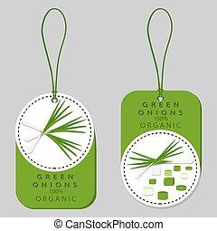 ripe vegetable bitter onion - Vector illustration logo for...