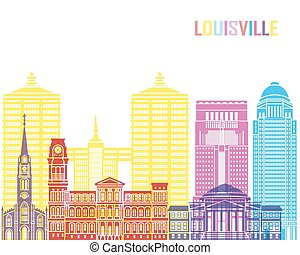 Louisville V2 skyline pop in editable vector file