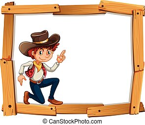 Frame template with cowboy