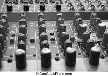 sound mixer - Professional sound mixer. Close-up