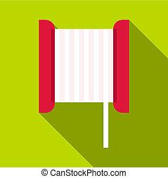 Bobbin icon, flat style - Bobbin icon. Flat illustration of...