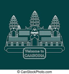 welcome to Cambodia - illustration in style of flat design...