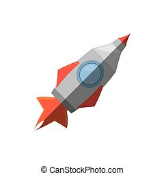 rocket with fire related icon